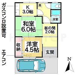 [一戸建] 愛知県名古屋市南区呼続3丁目 の賃貸【/】の間取り