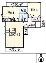 グランコート上野[2階]の間取り