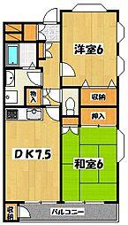 セントピアプラザB棟[1階]の間取り