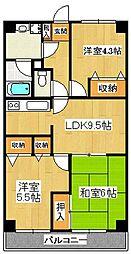 エトワール本八幡[305号室]の間取り