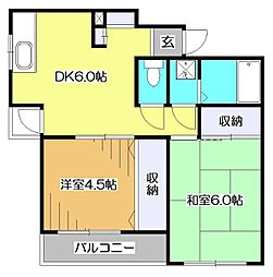 東京都東村山市恩多町3丁目の賃貸マンションの間取り