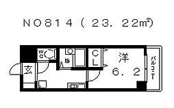 SWISS難波南[415号室号室]の間取り