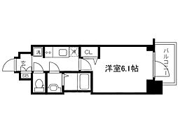 Osaka Metro長堀鶴見緑地線 松屋町駅 徒歩4分の賃貸マンション 8階1Kの間取り