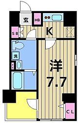 クレストタップ綾瀬 8階1Kの間取り