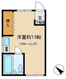 千葉県市川市平田3丁目の賃貸アパートの間取り