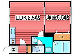 コージーコート西岡[2階]の間取り