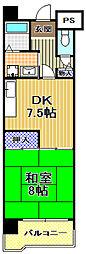 高見フローラルタウン五番街46号棟[8階]の間取り