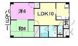 愛媛県松山市別府町の賃貸マンションの間取り