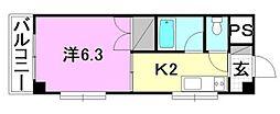 グランピアHOMEN[2階]の間取り