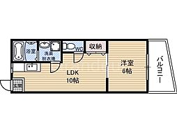 シャトークワジマ[3階]の間取り