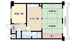 愛知県名古屋市南区鶴見通4丁目の賃貸マンションの間取り