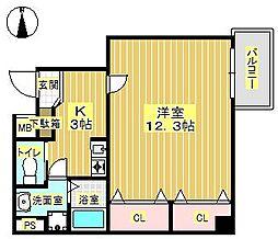サンクチュアリ緑丘[3階]の間取り
