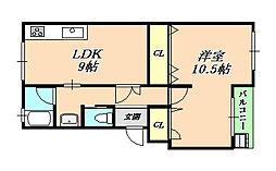 上高丸住宅D棟[3階]の間取り