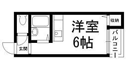 アズステーション池田[0301号室]の間取り