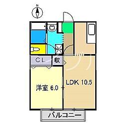 リベール高須[1階]の間取り