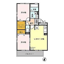 ロイヤルヒル South[3階]の間取り