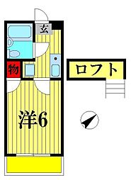ノワハイツ八柱[105号室]の間取り