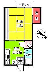 第二町田荘[203号室]の間取り
