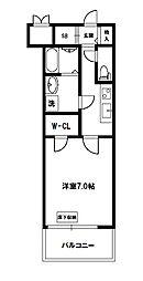 スプランディッド新大阪DUE[2階]の間取り