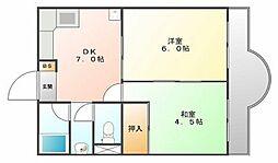 四宮マンション[3階]の間取り