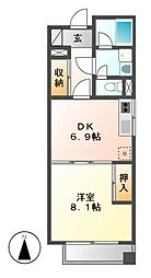 ドムス東栄[3階]の間取り