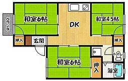 グリーンヒル A棟[1階]の間取り