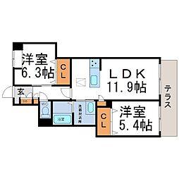 (仮称)シャーメゾン南武庫之荘4丁目[1階]の間取り