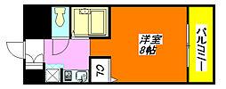 ハイウッズ・ナガタ 103号室[1階]の間取り