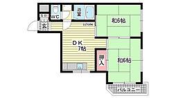 シャルム桜ヶ丘[3A号室]の間取り