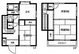 [一戸建] 神奈川県座間市相模が丘2丁目 の賃貸【/】の間取り