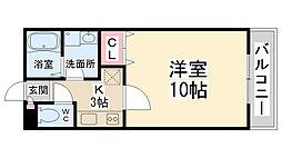 メイプル南花屋敷[102号室]の間取り