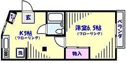 クレスト東菅野[301号室]の間取り