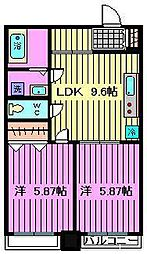 PLUMERIA北戸田[604号室]の間取り