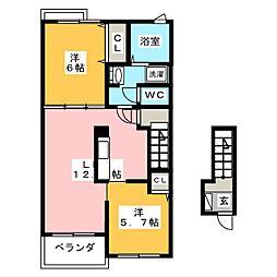 マイプレイス III[2階]の間取り