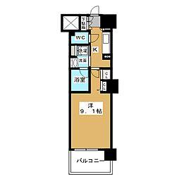 ロイヤルパークスERささしま WEST[15階]の間取り
