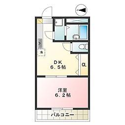 ファミーユトキワ[203号室]の間取り