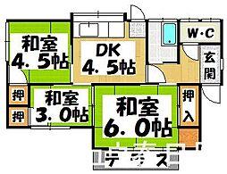 [一戸建] 福岡県大野城市下大利2丁目 の賃貸【/】の間取り