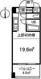 永井ビル[702号室]の間取り