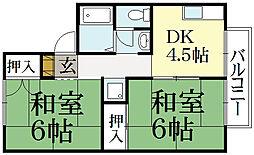 セジュール今原[2階]の間取り
