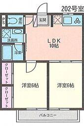 神奈川県横浜市泉区和泉中央南4丁目の賃貸アパートの間取り