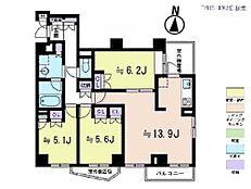 3LDK・専有面積72.67平米・バルコニー面積6.7平米