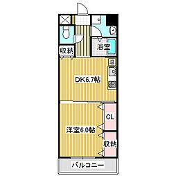 愛知県名古屋市港区新川町4丁目の賃貸マンションの間取り