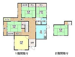 [一戸建] 兵庫県赤穂市上仮屋南 の賃貸【/】の間取り
