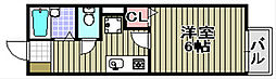 プリシエール味園 II[1階]の間取り