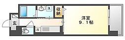 JR宇野線 大元駅 3.2kmの賃貸マンション 7階1Kの間取り