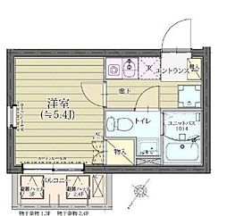 THEROOMS渋谷本町 4階1Kの間取り