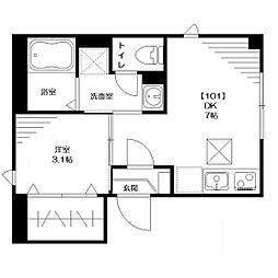 仮称:大和田Tマンション[101号室]の間取り