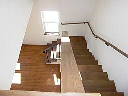 階段にはブルー...