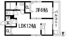 ハナヤシキヒル[2階]の間取り