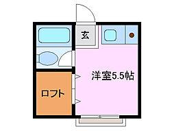 三重県四日市市大井手3丁目の賃貸アパートの間取り